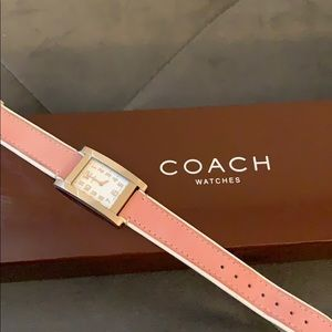 Light Pink Coach Watch